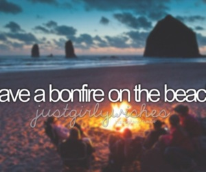 beach, bonfire, and bucket list image