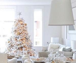 christmas, table, and tree image