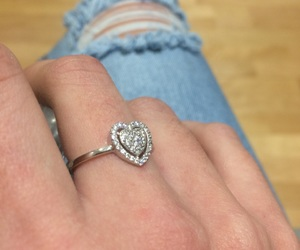 bague, doigts, and heart image