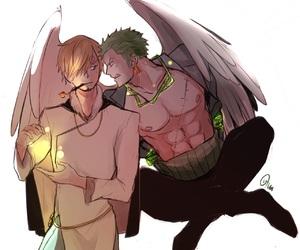 one piece, sanji, and zoro image
