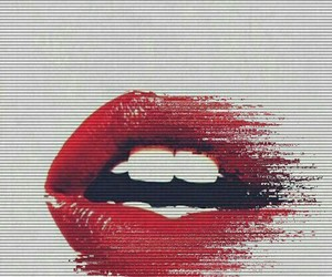 lips, red, and wallpaper image