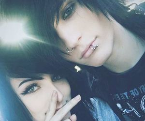 dark, emo couple, and johnnie guilbert image