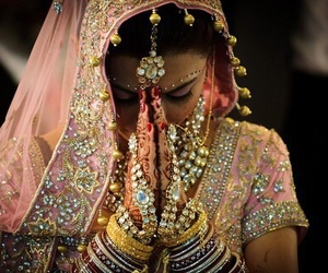 indian, bride, and india image