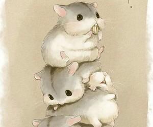 hamster, animal, and art image