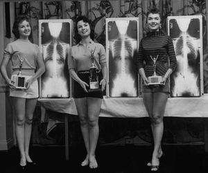 girls, vintage, and weird image