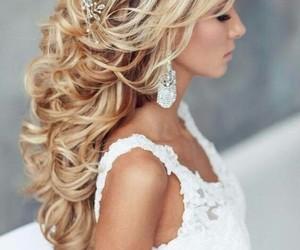 hair, wedding, and wedding hair image