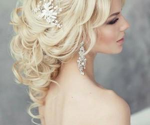 bridal, hair, and wedding image