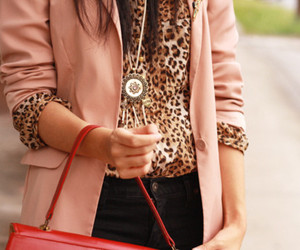 fashion, pink, and leopard image