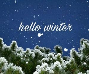 hello, snow, and snowflakes image