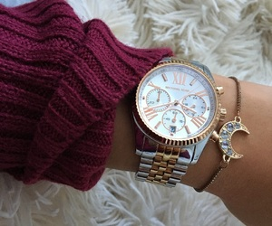 clock, fashion, and gold image
