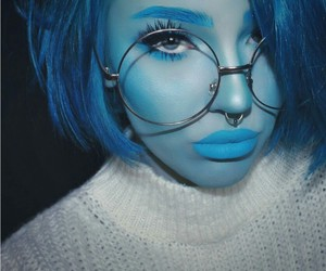 art, blue eyes, and blue hair image