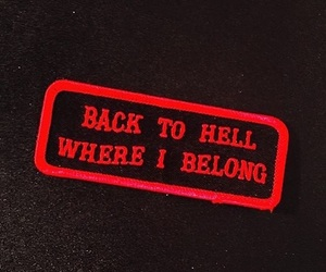 red, black, and hell image