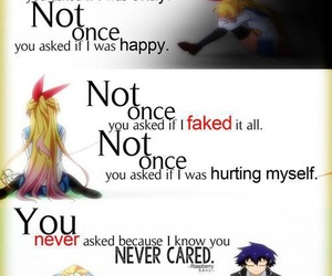 sad, anime, and quote image