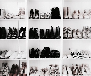 shoes, girl, and black image