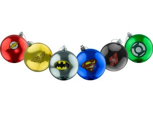 dc comics, collectables, and christmas bauble set of 6 image