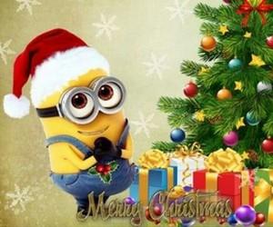 christmas, happy, and minnion image