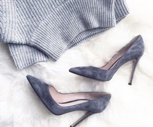 fashion, shoes, and grey image