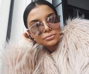 girl, sunglasses, and makeup image
