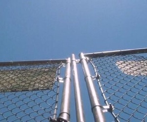 sky, blue, and fence image