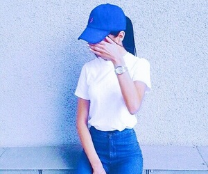 blue, style, and outfit image