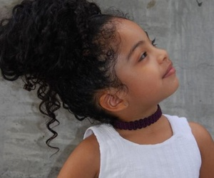 baby, curly hair, and black girl image