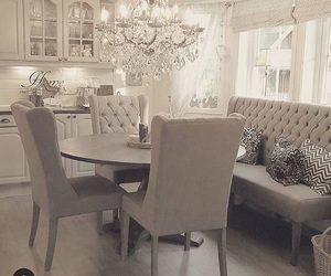 dining room, beautiful, and grey image