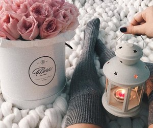 cozy, fashion, and flowers image