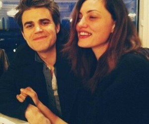 paul wesley, phoebe tonkin, and the vampire diaries image