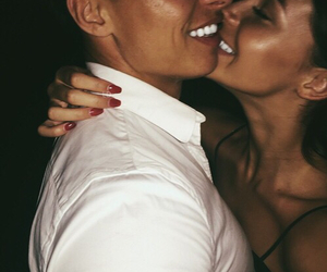 boy and girl, smile, and couples image