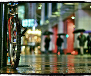 bike, blur, and street image