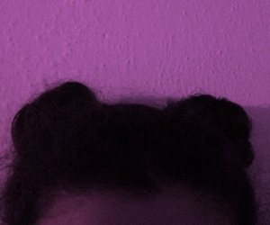cool, space buns, and curly image