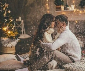 brunette, christmas, and cosy image