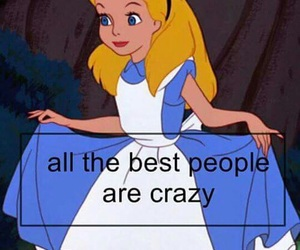 crazy, alice, and wallpaper image