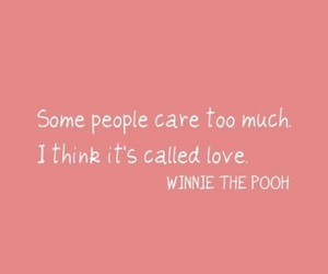 care, pooh, and quotes image