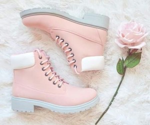 flower, shoes, and pastel image