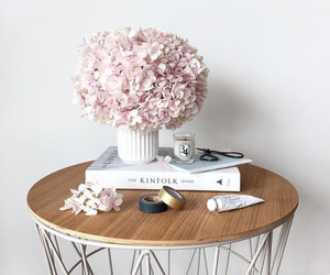 flowers, pink, and book image