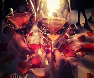 rose, wine, and drink image