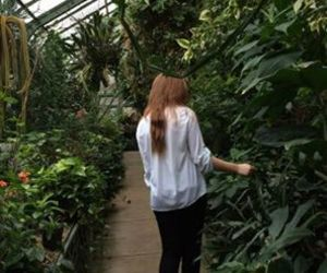 plants, girl, and nature image