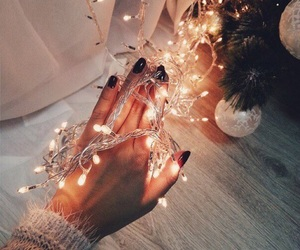 christmas, light, and winter image