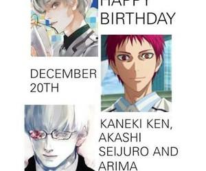 kuroko no basket, tokyo ghoul, and arima kishou image