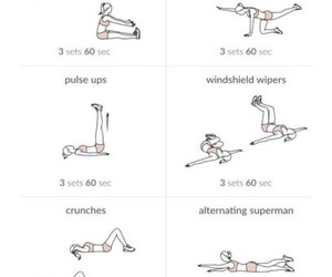 exercise, workout, and healthy image