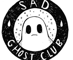 ghost, sad, and club image