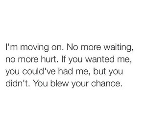 quote, hurt, and move on image