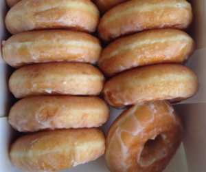 donuts, food, and brown image