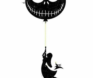 balloon, dark, and tim burton image