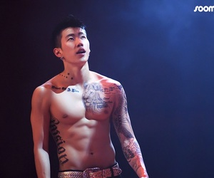 abs, kpop, and shirtless image