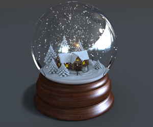 glass, snow, and snowball image