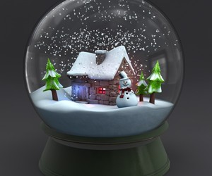 glass, house, and snow image