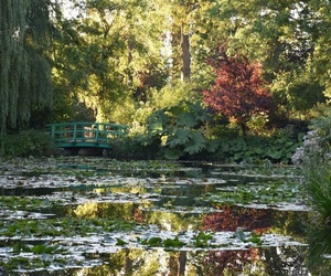 garden, landscape, and giverny image