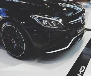 black, car, and mercedes-benz image